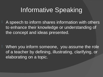 Informative Speaking PPT