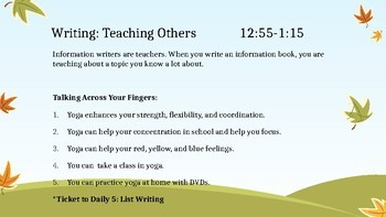 Informative/Teaching Writing Slides for Minilessons *Lucy Calkins Aligned*