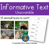 Informative Text Unscramble - Animals