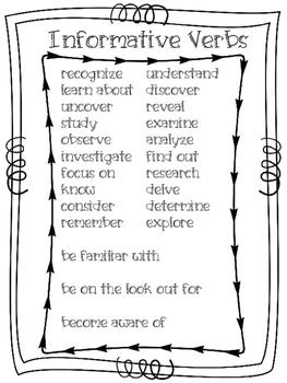 Informative Verbs