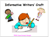Informative Writers' Craft: Revising Using Multiple Strategies