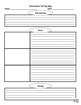 Information Writing 1 Page Template / Graphic Organizer