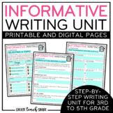 Informative Writing Unit | Digital Pages Google Slides | D