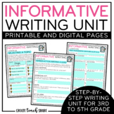 Informative Writing Unit | Digital Pages for Google Slides