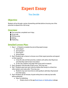 Informative Writing - 8 day writing process