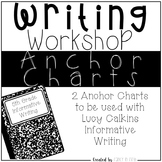 Informative Writing Anchor Charts for Lucy Calkins