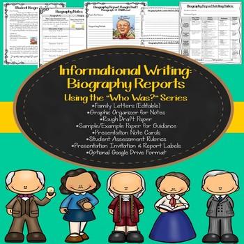 Informative Writing: Biographies (Optional Google Drive)