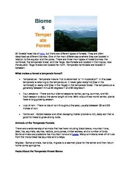 Informative Writing Biomes
