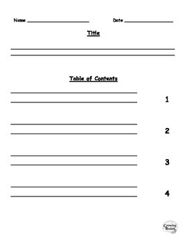 Informative Writing Book- Intro, Table of Contents, 4 Chapters, Conclusion