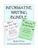 Informational Writing Bundle: Writing about Self and Another (8 pages, $4)
