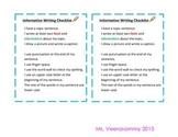Informative Writing Checklist