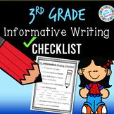 Informative Writing Checklist - 3rd grade standards-aligned - PDF and digital!