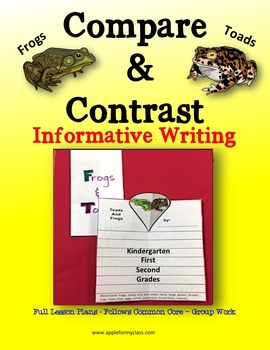 Frogs & Toads - Compare and Contrast - Writing - w/ Plans - K, 1st & 2nd Grades