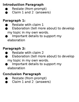 Informative Writing Criteria