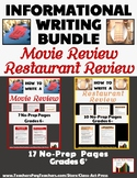 Informational Writing Bundle: Movie Review and Restaurant