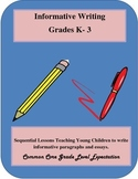 Informative Writing Grades K-3