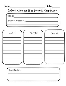 Informative Writing Graphic Organizer and Writing Paper