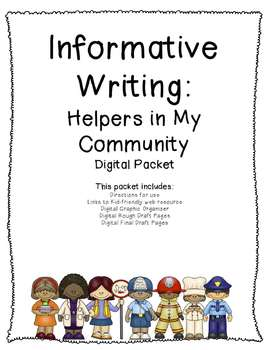 Informative Writing: Helpers in My Community