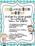Informative Writing: How to Make a Donut & A Step by Step Writing Guide