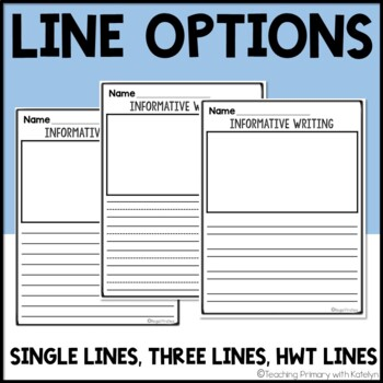 Informative Writing Lined Paper w/ Planning Sheets
