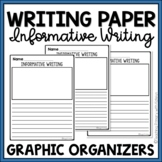 Lined Writing Paper with Picture Box: Informative