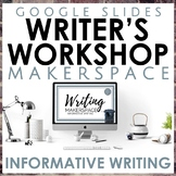 Informative Writing Makerspace in Google Slides
