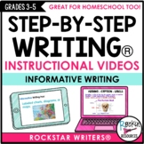 Informative Writing Mini Lesson Videos | Distance Learning