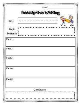 Descriptive Writing Organizer