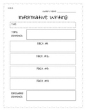 Informative Writing Organizer