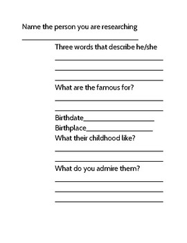 Informative Writing Packet