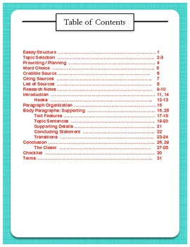 Informative Writing Packet {Differentiated}