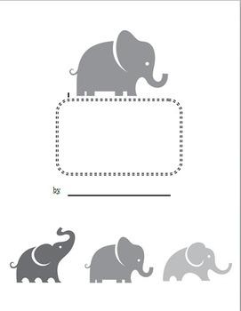 Informative Writing Paper-Elephants - ReadyGen First Grade Unit 1B PBA