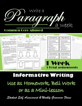 Informative Writing : Paragraph Writing: Paragraph of the Week