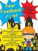 Informative Writing Peer Feedback Checklist for SRSD