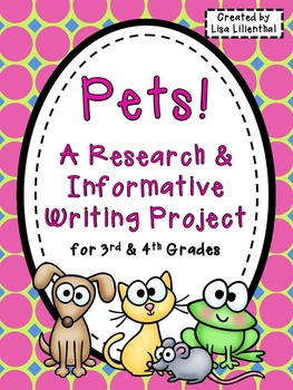 Animal Report / Pet Research Project ~ Informational Writing