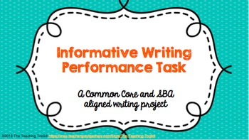 Informative Writing Prompt and Research Project