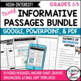 Informative Writing Prompts Bundle- Informative Writing Passages