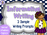 Informative Writing Prompts: Social Studies!