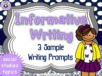 Informative Writing Prompts: Social Studies!