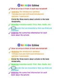 Informative Writing- RAINBOW Edit Student Sheet