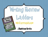Informative Writing Review Ladder - Monster Theme
