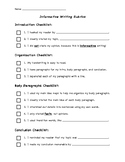 Informative Writing Rubric Self-Assessment