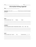 Informative Writing Scaffolded Graphic Organizer