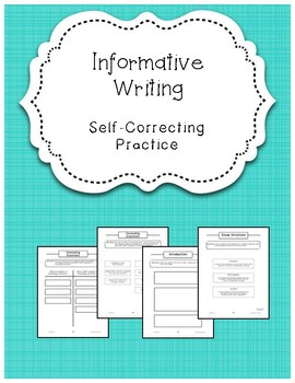 Informative Writing Self-Correcting Center Work {Differentiated}