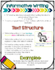 Informative Writing Set One 3rd, 4th, and 5th Grades