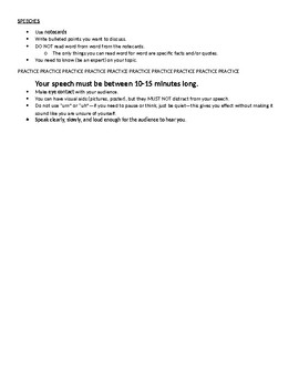 Informative Writing/Speech