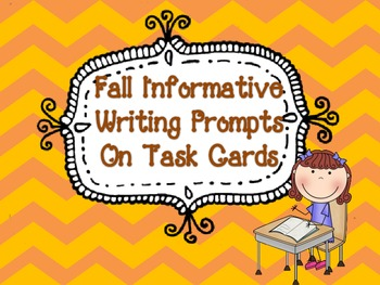 Informative Writing Task Cards {Fall Edition}