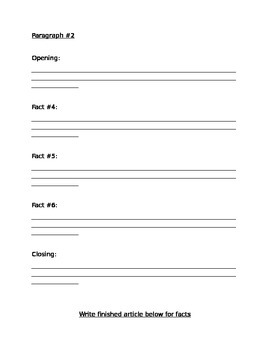 Informative Writing Template