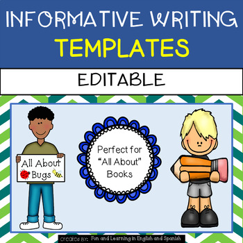 Informative Writing Templates - Animal Books, All About, B