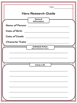 American Hero Biography: Informative Writing Unit for 2nd & 3rd Graders